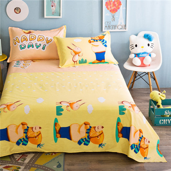 1Pc sheets printing flat sheets  twin full queen king size bed sheet bedsheet mattress cover protective case bed linen for child - Deals Blast