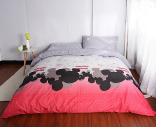 2017 New Kids Bedding Set Mickey Mouse Single Size Duvet Cover Set Queen King Bed Linen Quilt Cover Bed Sheet Set Bedclothes11 - Deals Blast