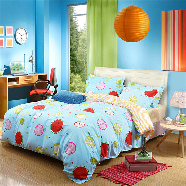 19 Colors Optional Cartoon Style White Quilt Cover Balloon Pattern Soft And Comfortable Duver Cover Bed Sheet Bedding Set 3/4pcs - Deals Blast