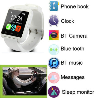 Sport Bluetooth Smart Wrist Watch Phone Mate For Man Boys For Android Samsung Motorola LG Huawei HTC IOS iPhone 7 6 6s Plus 5S - Deals Blast