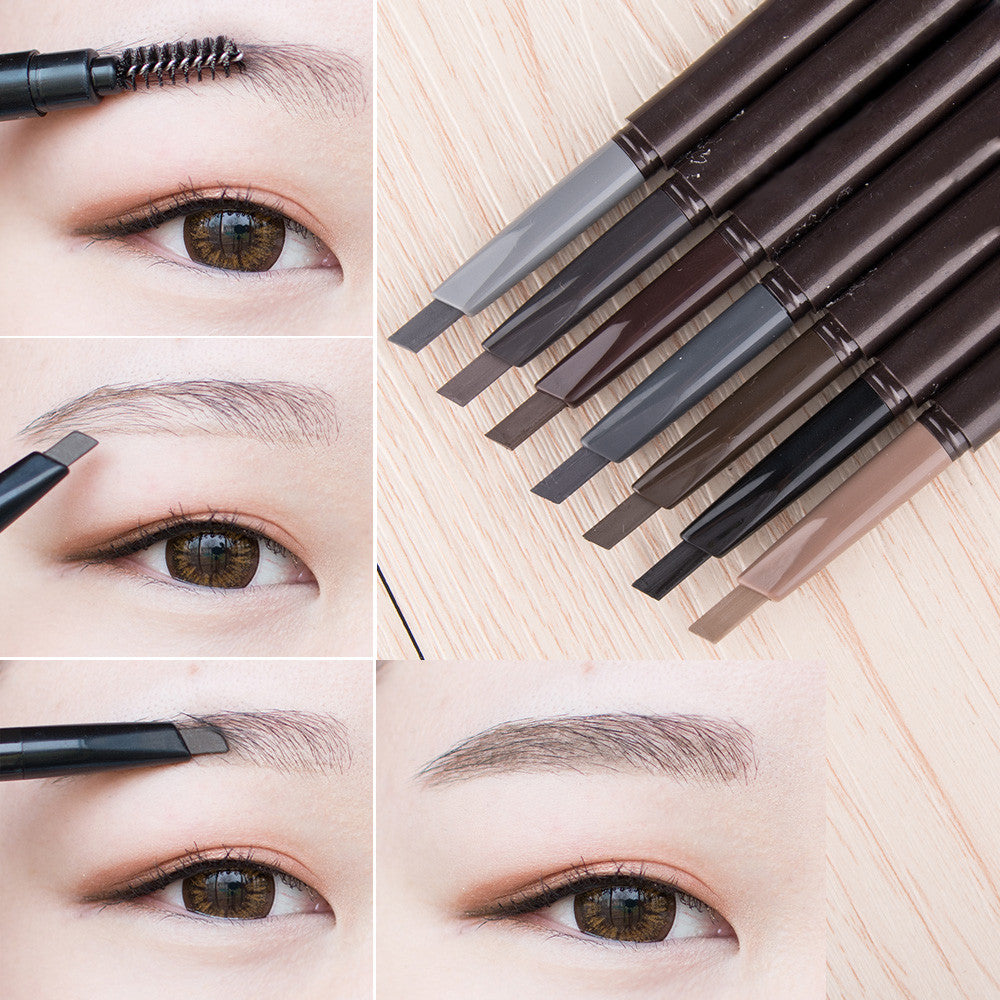 1 pcs Waterproof Longlasting Make up Automatic Black Brown Eyebrow Pencil Eye Brow Liner Makeup Brush Make Up Tools 5 Colors - Deals Blast