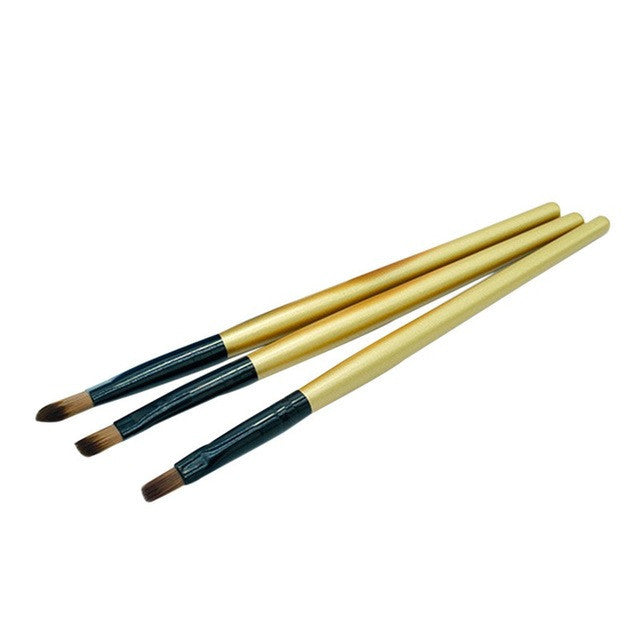 Make up Brushes Eyeliner Eyebrow Eye Shadow Makeup pinceaux maquillage Palette Brushes Angled Beauty Pro Beauty Tools 3PCS: Deals Blast