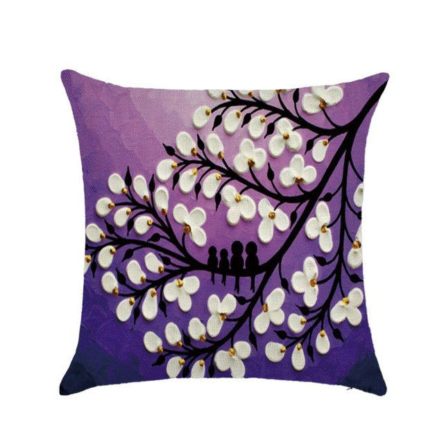 1pcs 45cm*45cm Soft Pillowcase Throw Cushion Cotton Linen Printed Pillow Case Cover - Deals Blast