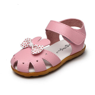 fashion kids shoes summer new pink flowers tendon bottom shoes girls princess shoes kids girl childrens leather sandals boy - Deals Blast