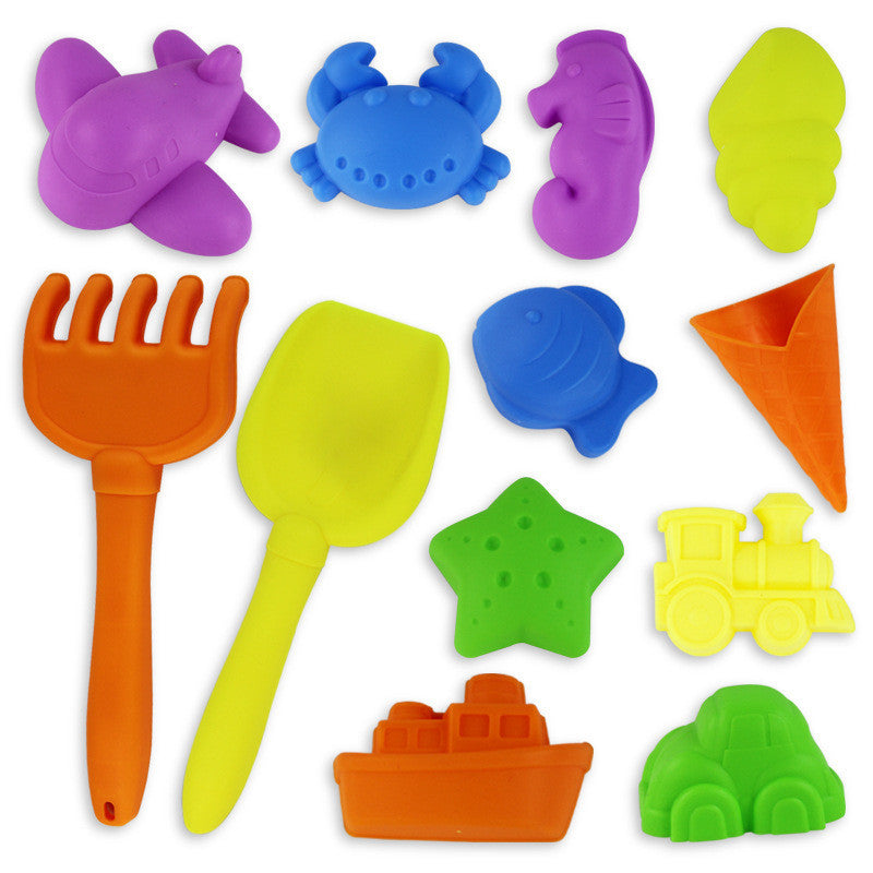 12pcs BOHS Children Beach Play Sand and Snow Play Dredging Sandbox Tool Set Baby Toys - Deals Blast