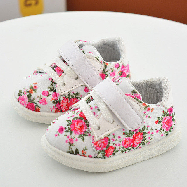 2017 Fashion Spring Baby Footwear 0-2Y Kids Toddler Canvas Shoes Girls Sport Shoe Antislip Soft Bottom Infant Sneakers - Deals Blast