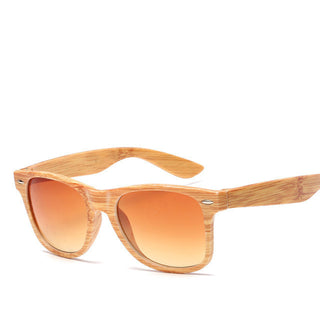2017 Fashion Imitation Wooden Sunglasses Men Women Imitation Bamboo Square Frame Retro Sun Glasses - Deals Blast