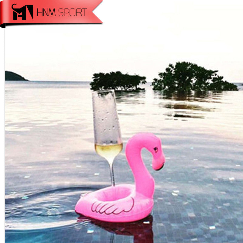 1PCS Mini Cute Fun Toys Flamingo Floating Inflatable Drink Can Holder Swimming Pool Party Kids Toys-Float Your Drinks in Style - Deals Blast