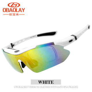 Polarized Sports Men Sunglasses Road Cycling Glasses Mountain Bike Bicycle Riding Protection Goggles Eyewear 5 Lens - Deals Blast
