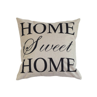 Home sweet home,Home Cotton Linen Letter Sunshine Throw Pillow Case cover 45x45cm PillowCase(Without Pillow): Deals Blast