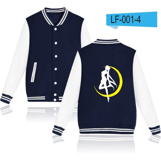 Sailor Moon Cartoon Design Mens Hoodies Baseball And Plus Size Sailor Moon Women Autumn Clothes: Deals Blast