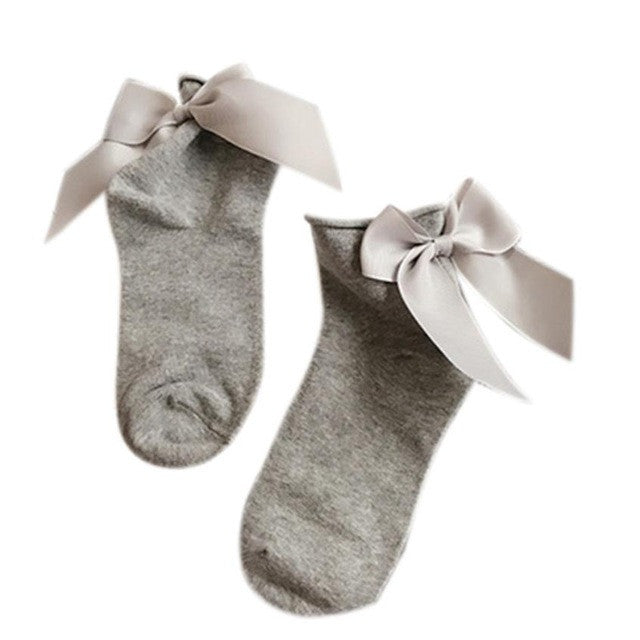 2017 female woman ladies girl sweet solid bow-knot socks Women Fashion Harajuku Street Style Ankle Length Cotton Socks - Deals Blast