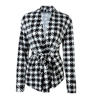 Spring Summer blazer feminino 2017 Plaid black white Women blazers and jacket Work Wear Office Blazer female jackets - Deals Blast