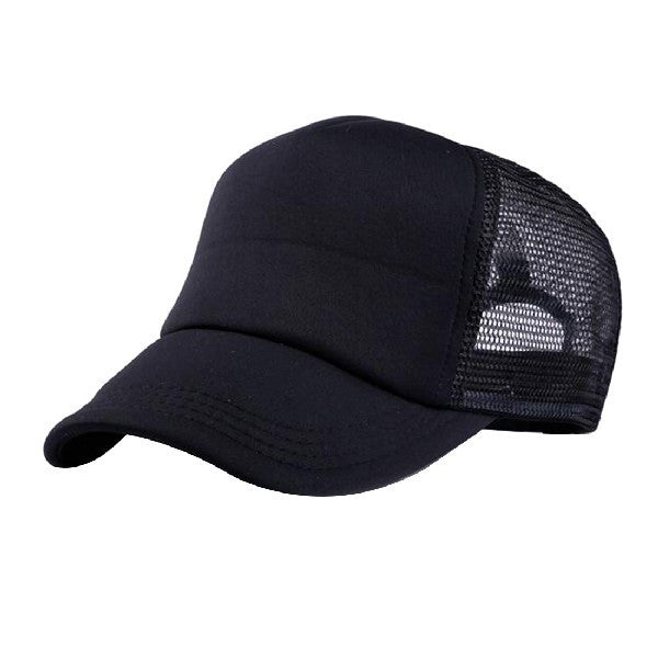 2017 Fashion Cap Women Men Hat Attractive Unisex Casual Hat Solid Baseball Cap Trucker Mesh Blank Visor Hat Adjustable - Deals Blast