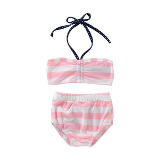 bikini 2017 swimsuit Baby kids swimwear Girls bikinis Two-Piece swimwear kid New bathing suit biquini New Beachwear Halter Apr21: Deals Blast
