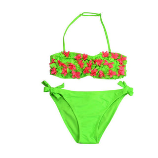 kids swimsuit Baby kid Girls bikini 2017 Two-Piece Flower swimwear kids bikinis Set bathing suit biquini Beach wear Halter May2Y: Deals Blast