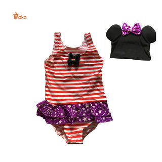 Real Picture Kids Swimmer Girl Bathing Suit Infantil Swimwear for Girls Bathers Children One Piece lovely Swimsuit 3-14 age +Cap - Deals Blast