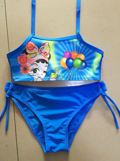 New 2017 Kids bikinis sets Summer Style Girls Swimsuit Children Swimwear Kids two Piece Swimming Suit Beach Wear: Deals Blast