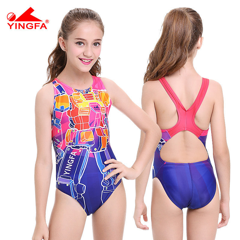 children swimwear kids swimming racing suit competition swimsuits girls  professional swim solid child - Deals Blast ... e97f57c46