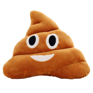 Hot sell 5 Types Mini Emoji tawny Pillow Cushion Poop Shape Pillow Doll Toy Throw Pillow Amusing emotion pillow: Deals Blast