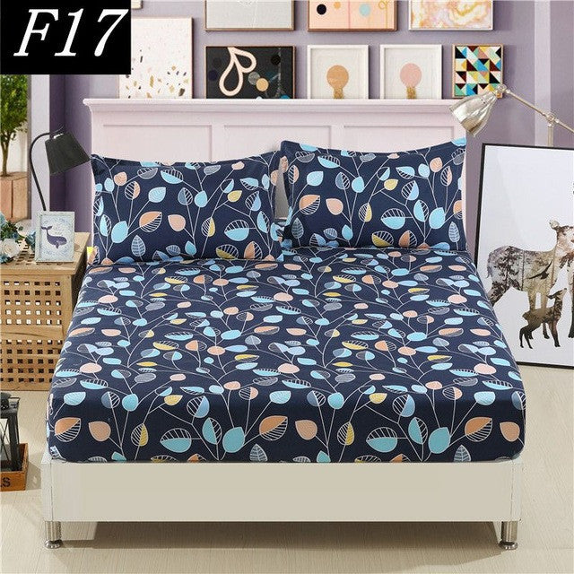 1 Pcs Fitted Sheet bed Sheet King sheets Double Single bedsheet bedding,bed linen,bed mattress cover - Deals Blast