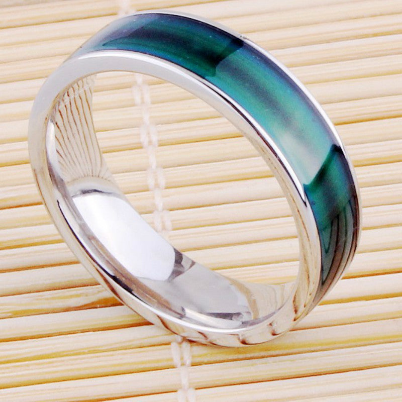 (1 pieces/lot) 100% Stainless Steel Mood Ring Changing Color Fine Jewelry Rings for women Smart Ring Men Factory Dirct Wholesale - Deals Blast