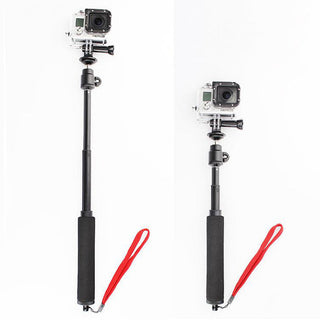 Self-lock Telescoping Monopod Selfie Stick with Tripod Mount Adapter Wrist Strap for GoPro Hero 2/3/4 - Deals Blast