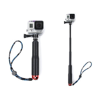 Universal Stretchable Selfie Stick Monopod+Clip Holder Set Extendable Hand Held Selfie Stick For GOPRO Sports Camera - Deals Blast