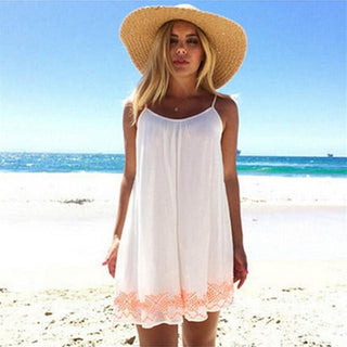 Women White Backless Short Summer BOHO Party Beach Mini Dress Sundress Plus size Womens clothing Free shipping
