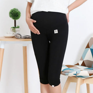 pregnant short women summer short leggings maternity short capris black gray white plus size mother leggings: Deals Blast