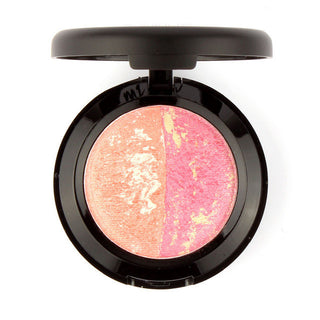 Easy to Wear 1pcs Baked Blush Face Blusher Bronzer Powder Palette with Mirror Cheek Color Comestics Nature Blush - Deals Blast