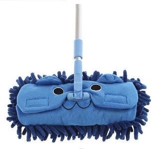 Hot Sell Mini mop handy easy mops floor / car/ window cleaning new chenille telescopic removable dust mop Chenille cartoon: Deals Blast