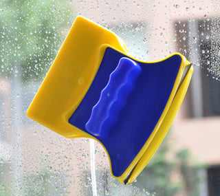 Magnetic Brushes Cleaner Double Side Glass Wiper Window Surface Brush Cleaning Car Window Wizard Washing Tool For Home Office: Deals Blast
