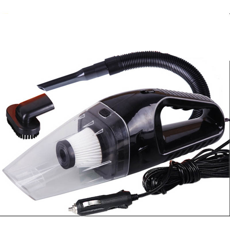 120W Portable Car Vacuum Cleaner Wet And Dry Dual Use Auto Cigarette Lighter Hepa Filter 12V 3 Color - Deals Blast