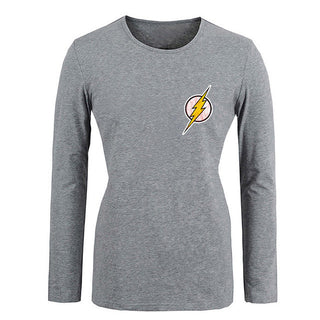 DC. Comic the Flash Symbol Super Hero  Girls T shirt For Women long sleeves Tops Creative Printed Tee Cosplay costume - Deals Blast