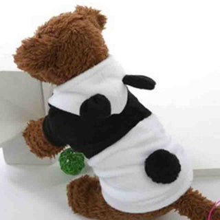 Pet Dog Cat Clothing  Fleece Panda Lovely Ear Hoody Coat Costume Kung Fu Puppy Apparel Clothes Fashion Outwear 1 Piece Only - Deals Blast