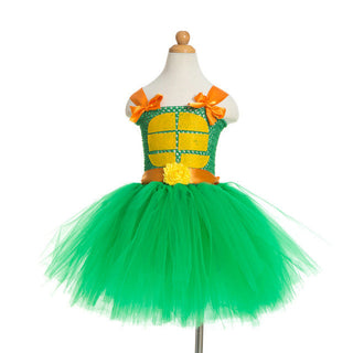 TMNT Ninja Turtle Inspired Tutu Dress Handmade Fancy Halloween Party Costume Girl Size 2T-12 Birthday Parties Donatello Dress Up: Deals Blast