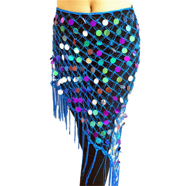 2017 Belly Dance Costumes Hip Scarf Wrap Belt Skirt Sequins triangle Belly Dance Training Clothes Accessories Hip Scarf - Deals Blast