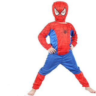 Anime Spiderman Batman Superman Cosplay Costumes For Kids  Halloween Hero clothes for Children Carnival  Boys and Girls Costume: Deals Blast