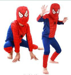 Free PP! Children Red spiderman costume bat boy halloween costumes for kids superhero capes cosplay carnival costume - Deals Blast