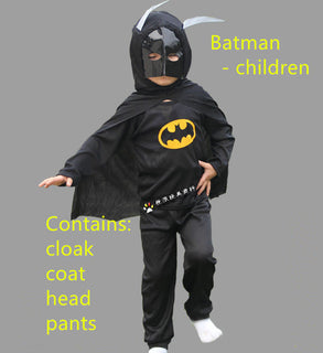 Halloween Costume for Kids Red Black Spiderman Batman Superman Zorro Boys Cosplay Fancy Clothing - Deals Blast