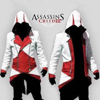 Cosplay Props Assassins Creed III 2 3 4 5 Altair Ezio Kenway Connor Fashion Jacket&Necklace Hoodie College Student Sportswear Fo: Deals Blast
