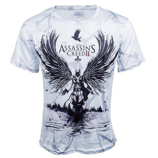 Cos Assassins Creed Men's t-shirt Male Short Sleeve Sweatshirts Tee Costume Halloween Party: Deals Blast