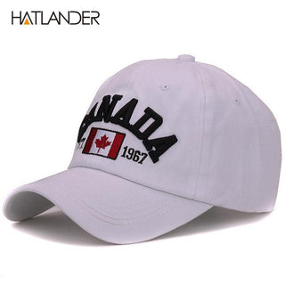 8db892c6 Hatlander brand Canada letter embroidery baseball caps cotton gorra  snapback curved dad hat leisure outdoor women