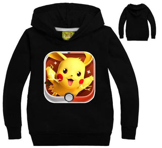 Pocket Monster Shirt Long Sleeve Tshirt Pokemon Go Kids Pokemon Boys' T-shirt Pikachu Hoodies Kids boys Girls Clothes Sweatshirt - Deals Blast