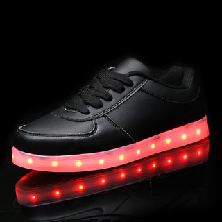 Girls light up led #luminousshoes color glowing casual fashion with new simulation sole charge for Boys kids neon children - Deals Blast