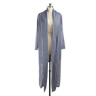 Women Ladies Draped Cardigan Open Front Maxi Long Casual Coat Top Outwear
