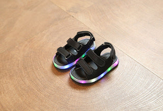 Kids Sandals With Light Summer Children's LED Light Shoes Boys sandals Beach Shoes Girls Soft Bottom Baby Boys Sandals: Deals Blast