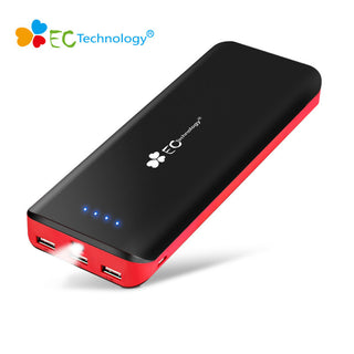 EC Technology Power Bank 16000mah Bateria Externa Portable Charger Poverbank 3 USB Power Bank 18650 Cargador Portatil - Deals Blast