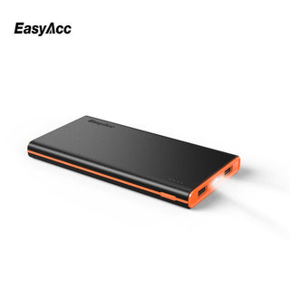 EasyAcc 10000mAh Power Bank 2.4A Portable Brilliant External Battery Pack  Backup Charger LCD Dual USB Powerbank For iphone 7 - Deals Blast